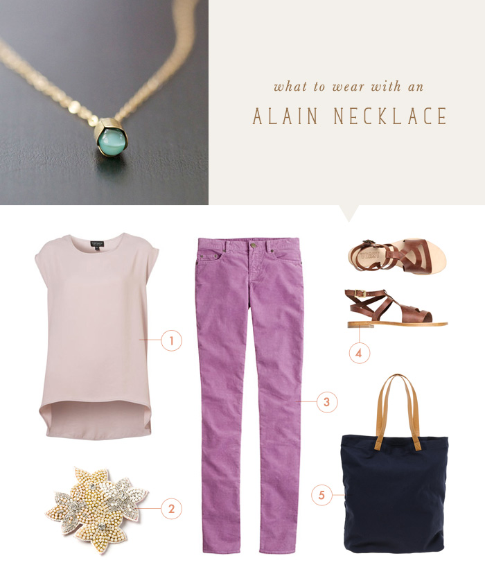 what to wear {alain in blue necklace}