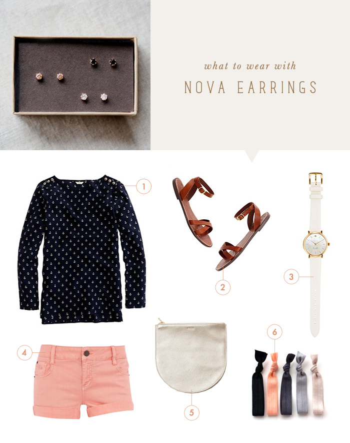 what to wear with Nova earrings