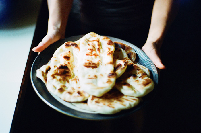 garlic naan, photographed by rachel ball
