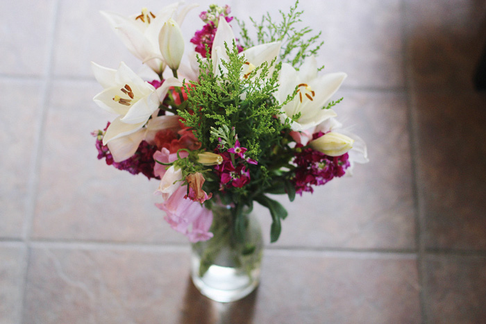 farmers market flowers, photographed by Rachel Ball