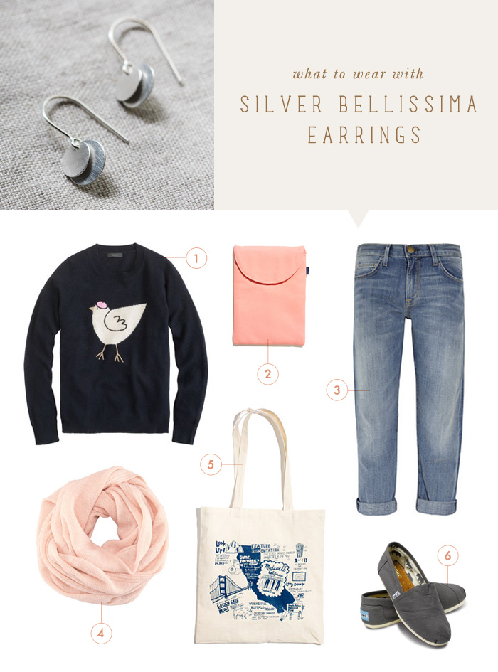 what to wear {silver bellissima earrings}