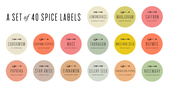 Mignon Kitchen Co. spice labels