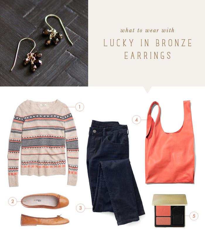 Elephantine: what to wear {lucky in bronze earrings}