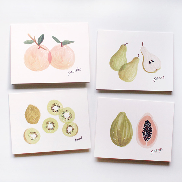 fruit cards at Mignon Kitchen Co.
