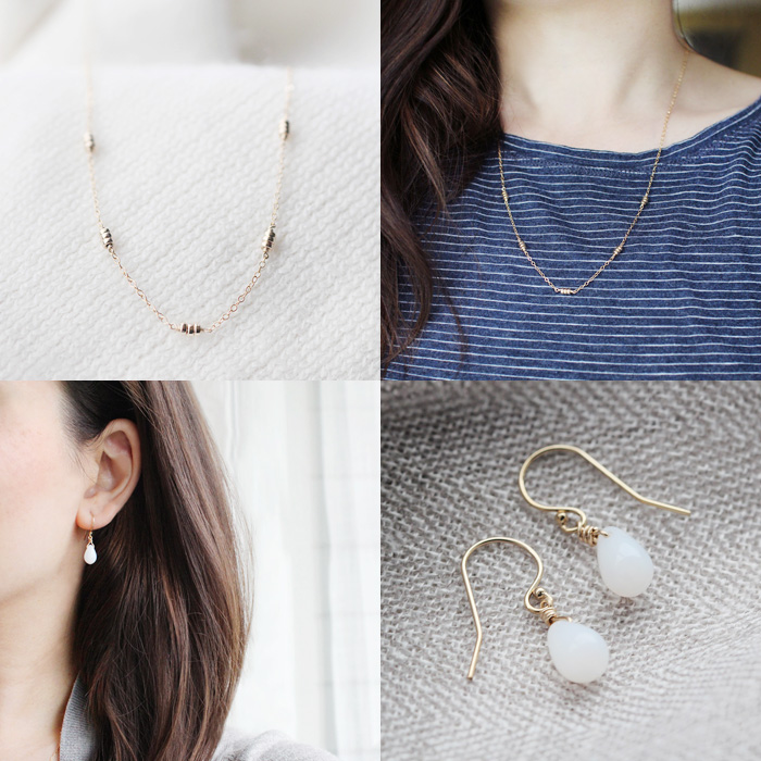 maya necklace & moonbeam earrings | elephantine